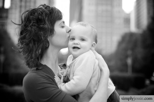 Mom & Daughter Black and White