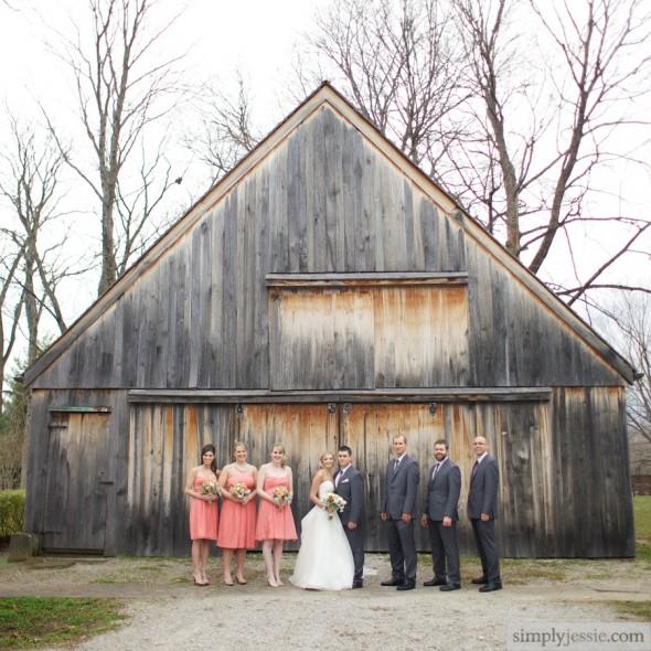 Bridal Party & Barn