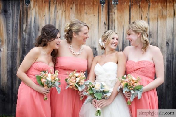 Fall Wedding with Peach