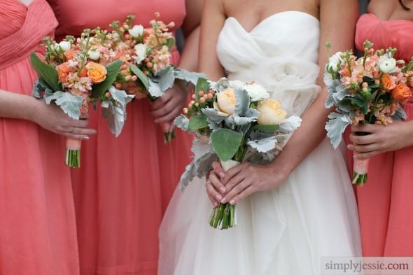 PeachPeonies& Ivory Wedding