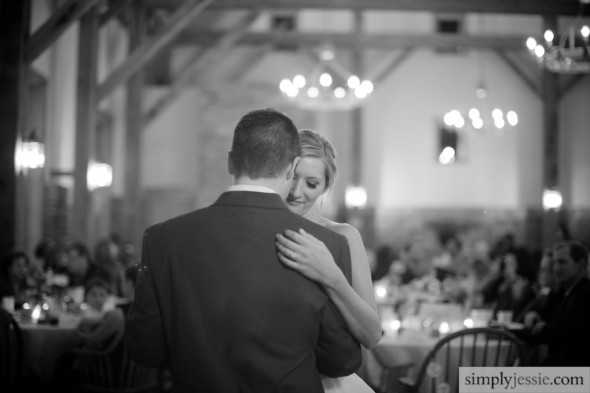 Romantic First Dance at wedding