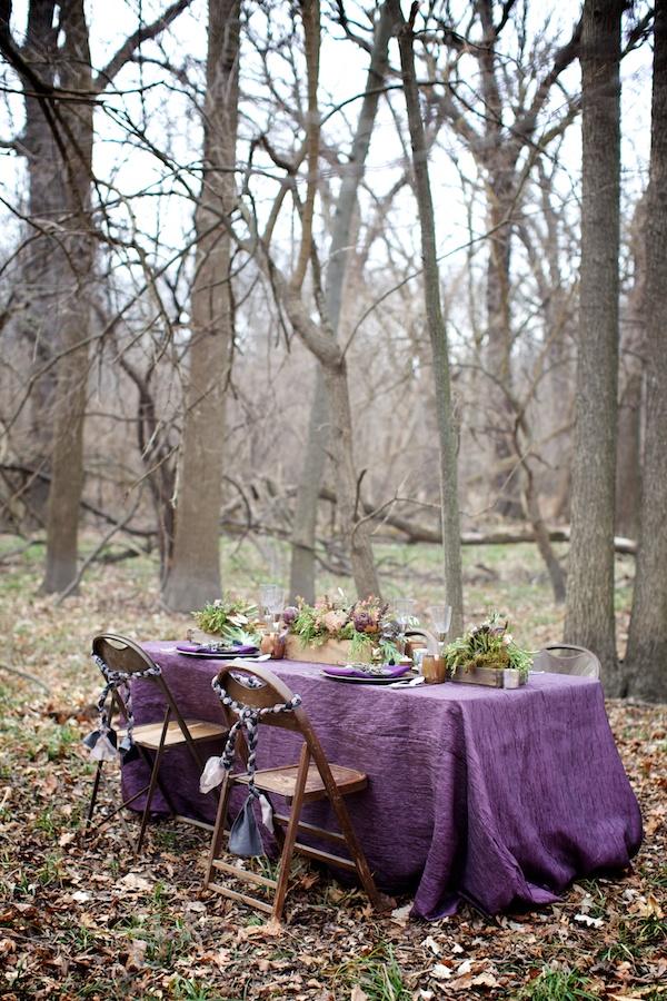 Woodland Inspiration Table setting