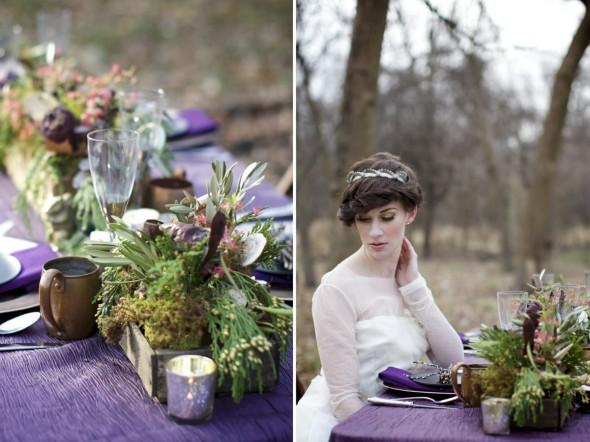 Woodland Wedding Table Setting