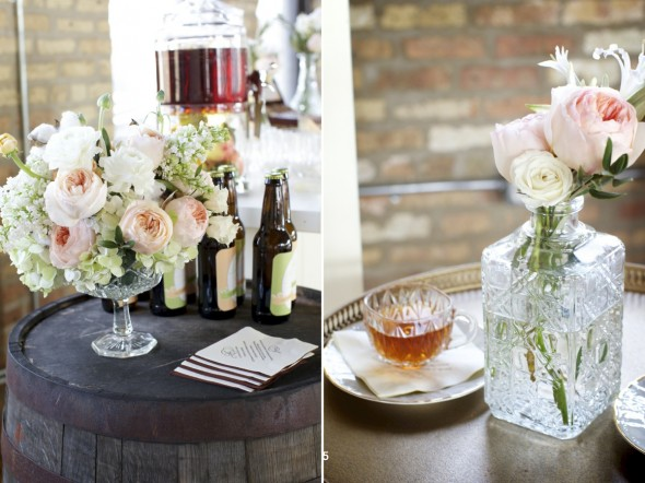 His Her Wedding Drink Station