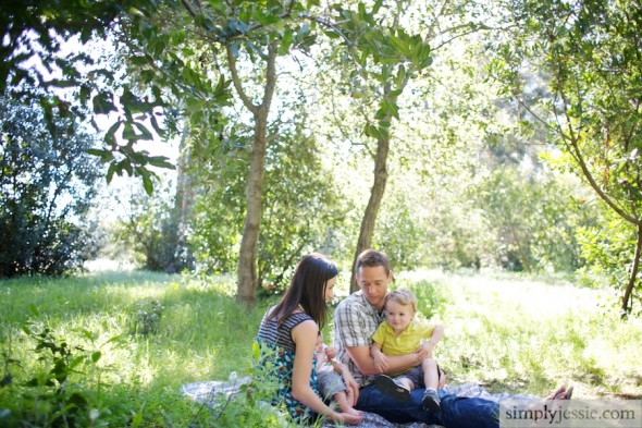 Family Photography in California meadow