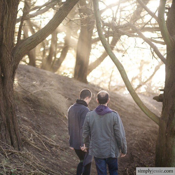SF Woodland Engagement Photography