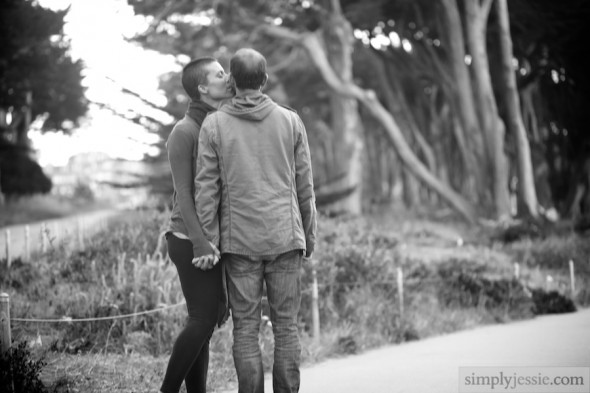 San Francisco B&W Engagement Photography