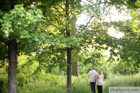 Woodland Engagement Photography