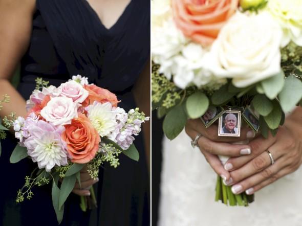 Grandparent medallion on Bridal Flowers