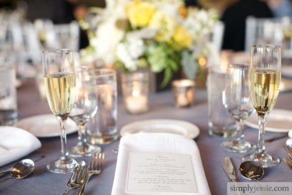 Yellow:Grey Elegant Chicago Wedding