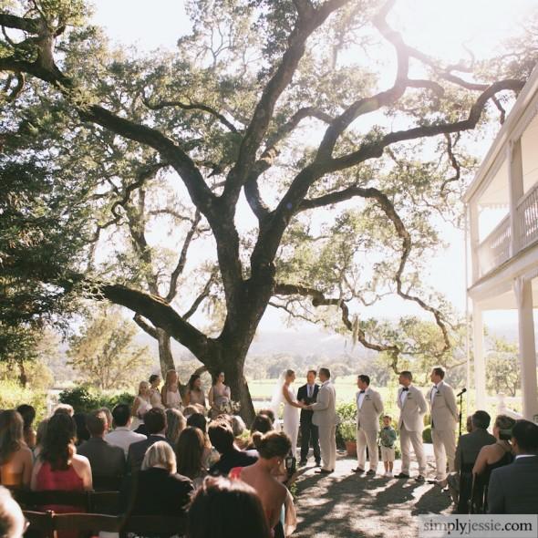 Wedding Ceremony at Beltane Ranch