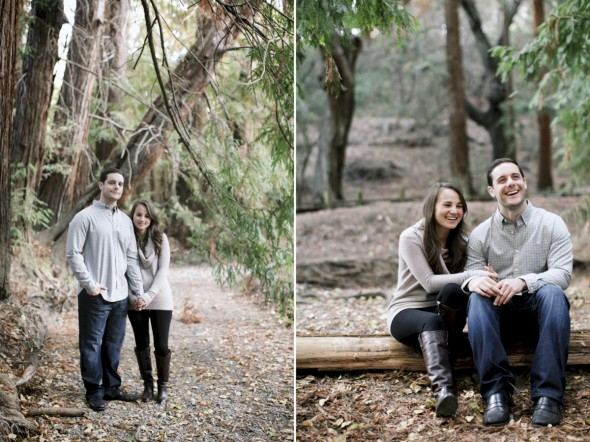 Redwood Grove Engagement Photography