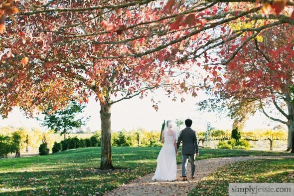 Fall wedding at Vintner's Inn Sonoma