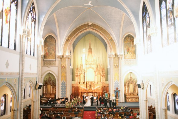 Chicago Cathedral wedding