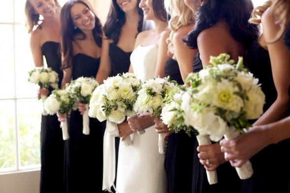 Classic Bridesmaids with Bride