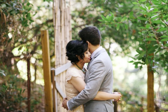 Emotional Wedding at Hakone Gardens