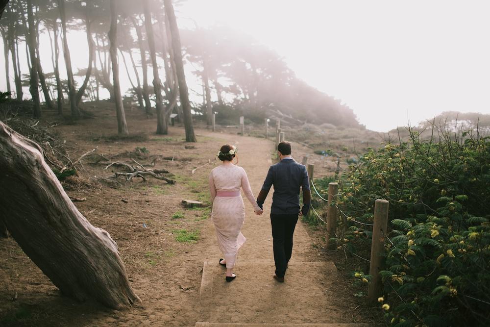Foggy Wedding San Francisco