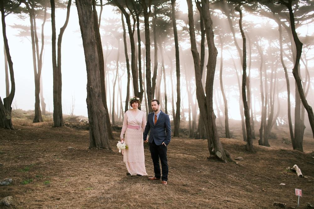 Foggy Lands End Wedding Photography