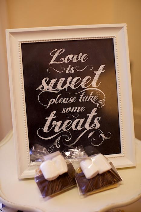 Love is sweet please take some treats
