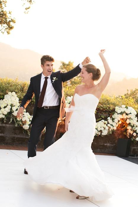 First Dance Garden Wedding Bay Area