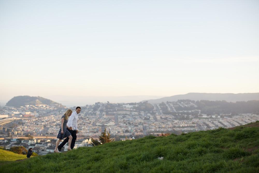Bernal Hill San Francisco Engagement Photography