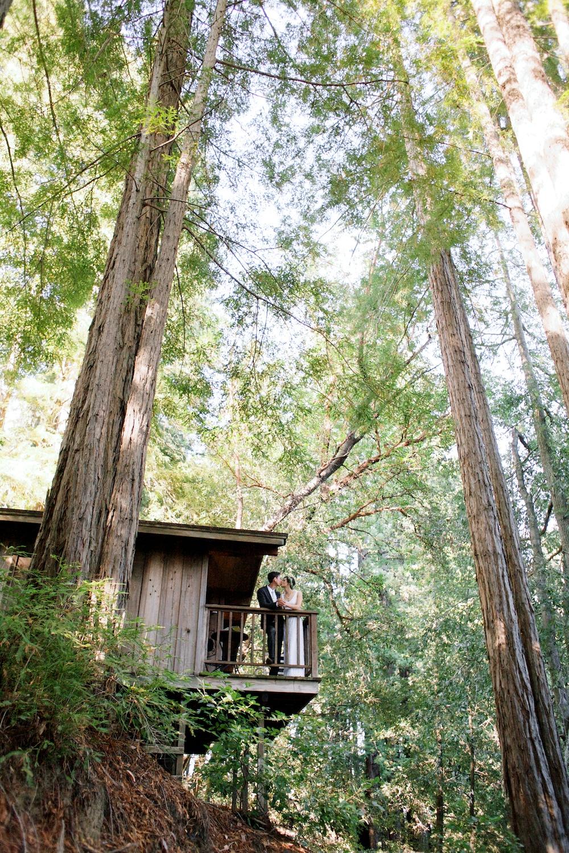 Small Wedding Photographer Woodland Redwood Sequoia Retreat Center Santa Cruz