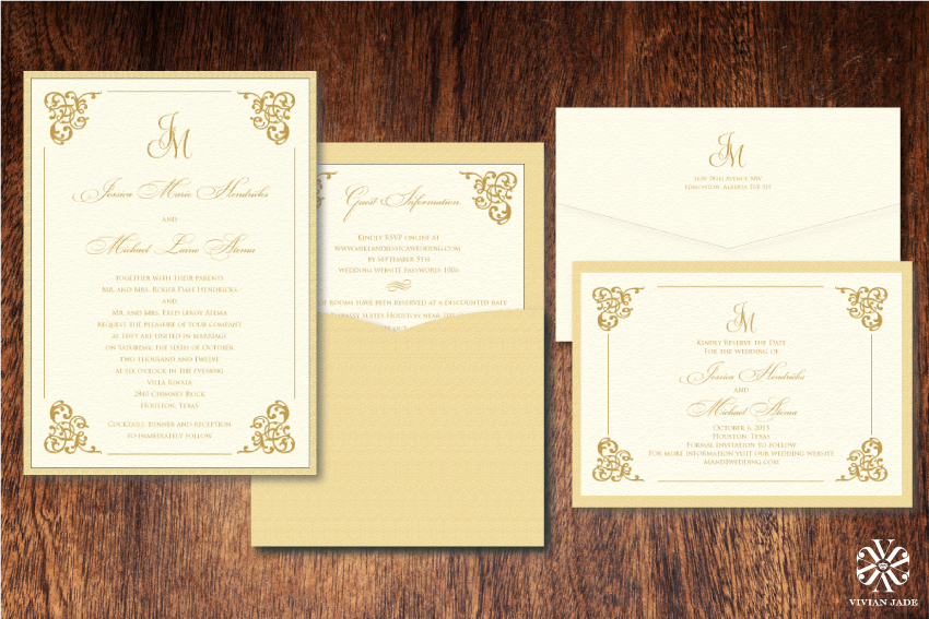 Jessica & Michael Save the Dates with Pocket Invitations