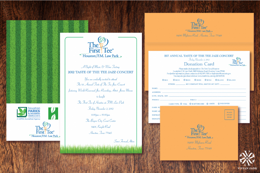 The First Tee of Houston FM Law Park Jazz Concert / Invitations
