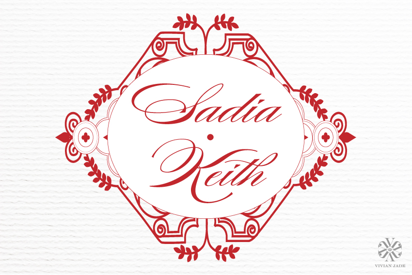 Sadia Wedding Monogram + Personal Logo