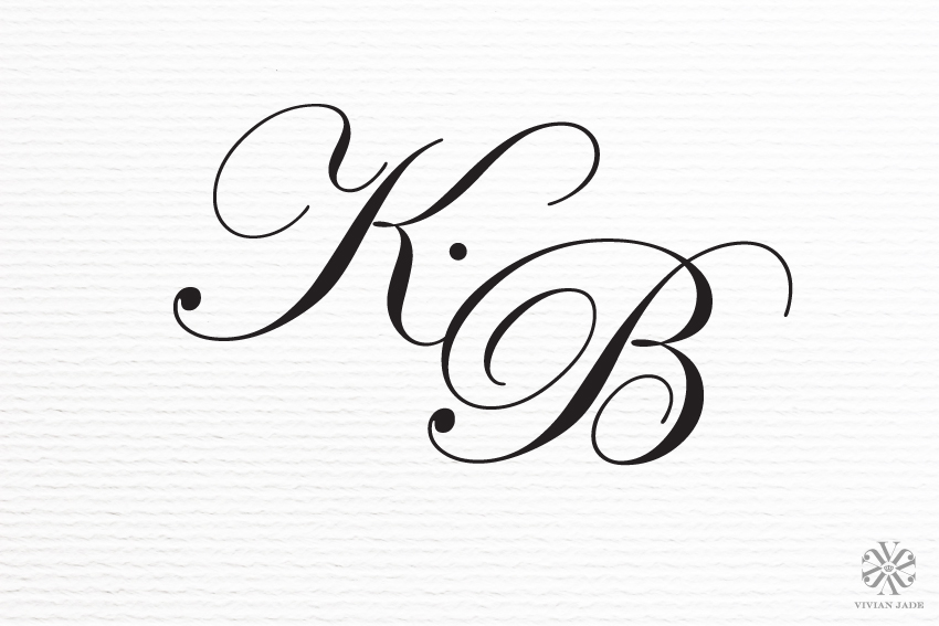 KB Wedding Monogram + Personal Logo