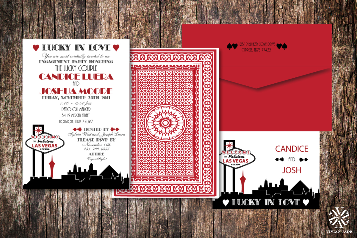 Candice & Josh  Engagement Party Invitations and Thank You Cards