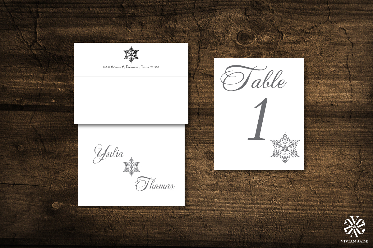 Yulia & Thomas  Thank You Cards, Envelopes, and Table Numbers