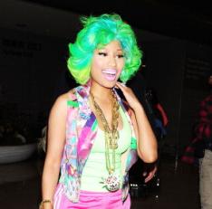 Nicki Minaj's custom wigs are always full of color!