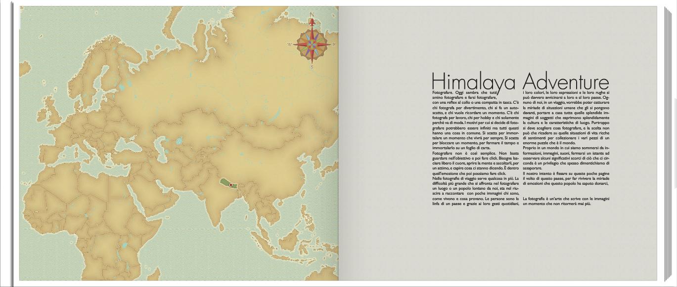 """Pagina d'introduzione del Fotolibro """"DIscovering Nepal"""""""