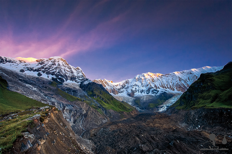 L'alba dall'Annapurna Base Camp (ABC) 4300m