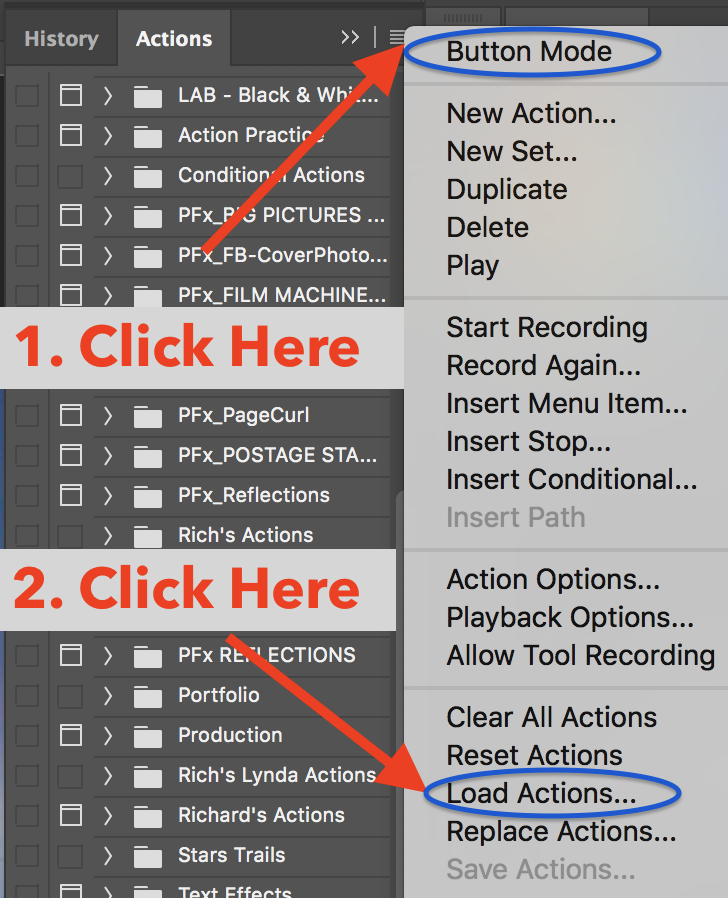 Installing a Photoshop Action