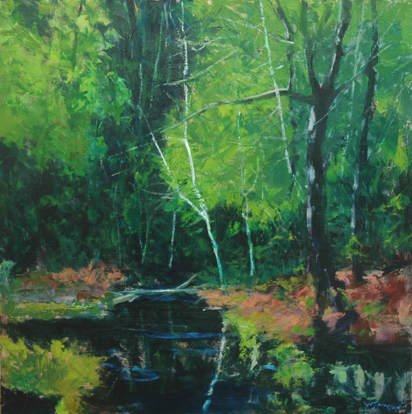 Summer on Sweetwater Creek, 24x24, $3,750.jpg