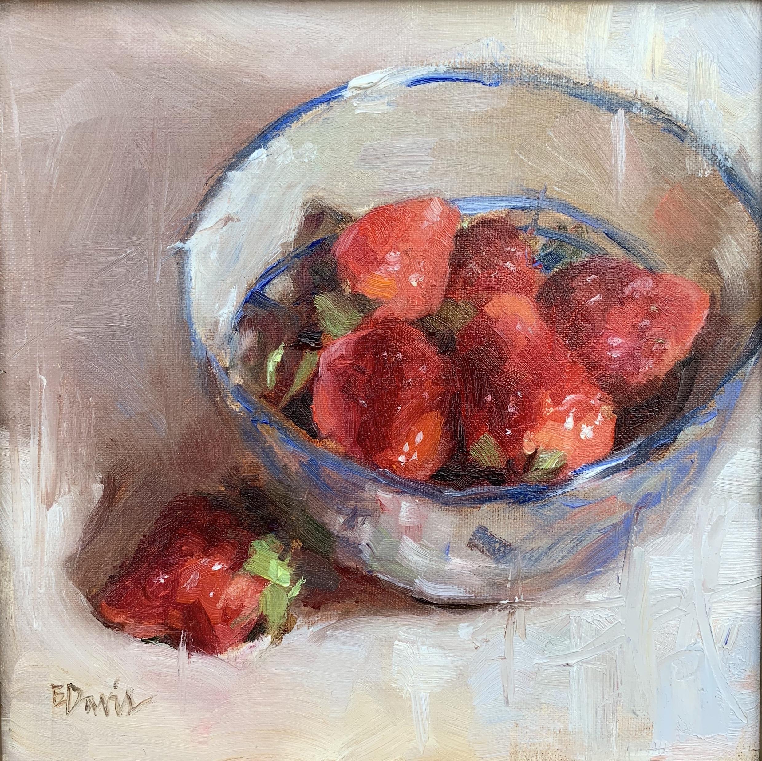Berries in Blue 8x8