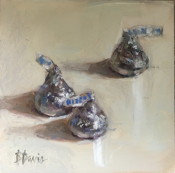 Barbara Davis, Kisses, 5x5, Oil
