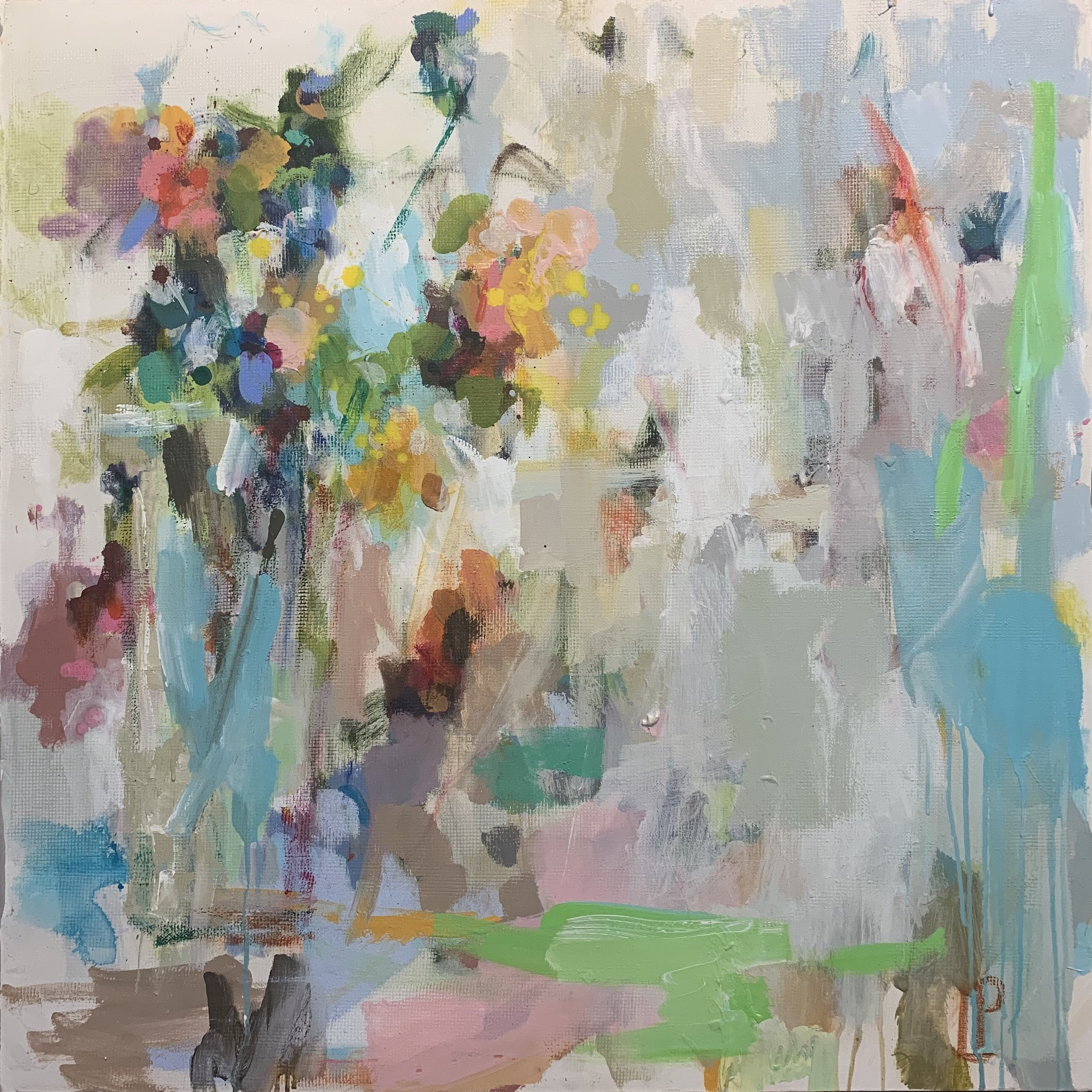 Laura Park, Winter Bouquet, 36X36, Mixed Media