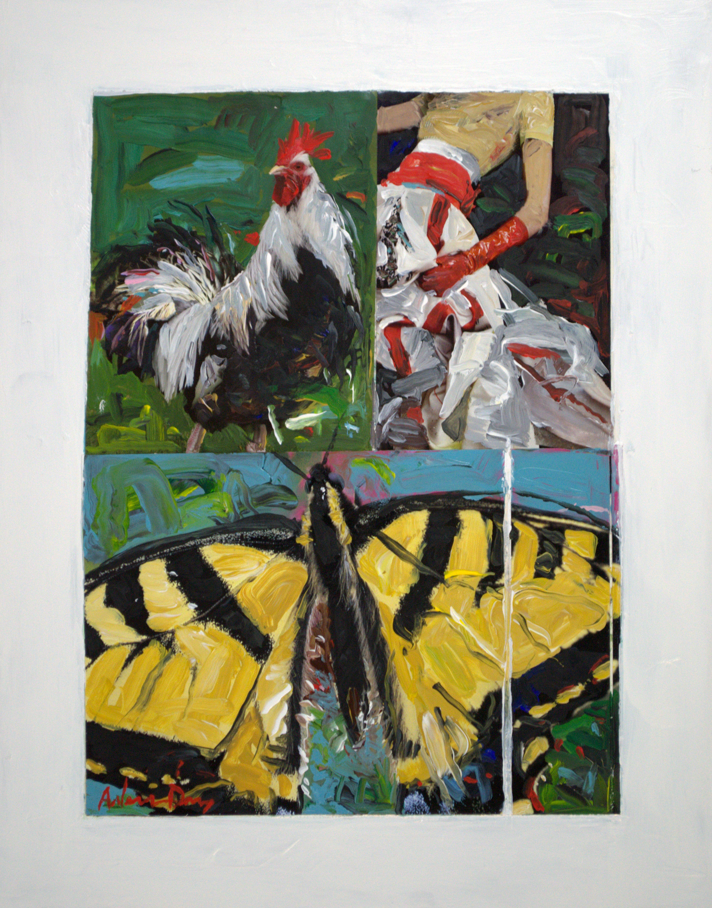 Fashionable Butterflies 14x11