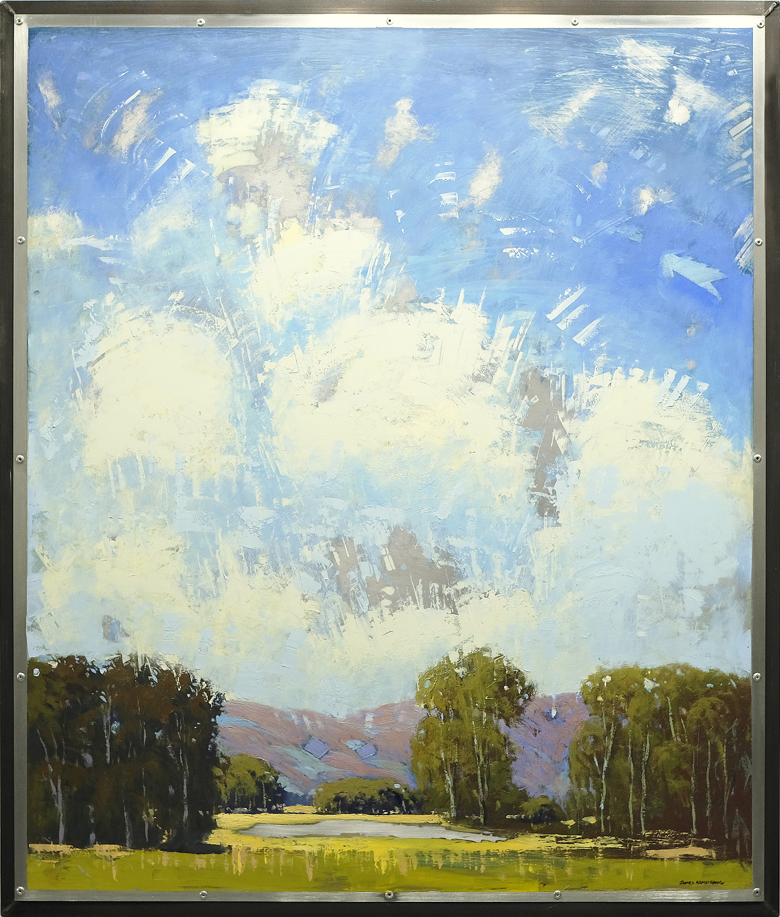 Clouds Over Pond 42x36