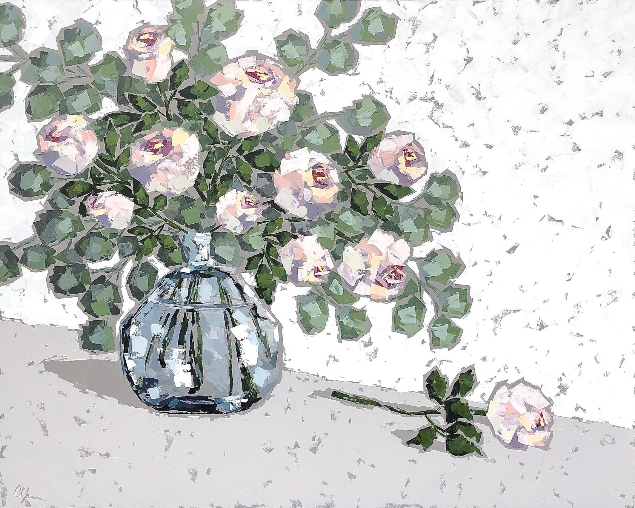 Roses in Blue Glass II 48x60