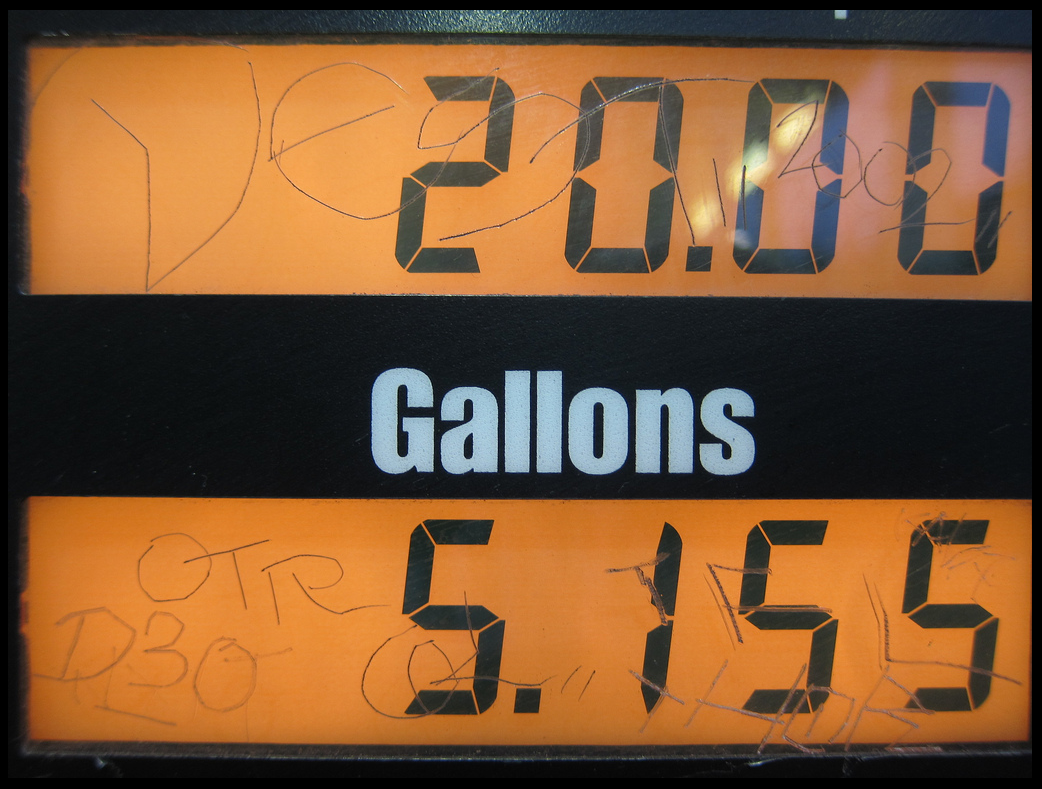Look familiar?  Vandalism carving and UV fading, cracking, and discoloration can be seen on fuel dispensers in almost any gas station.
