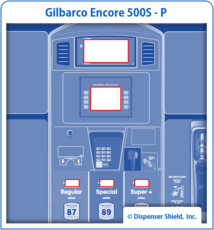 Gilbarco Encore 500S (P) with Privacy Keypad
