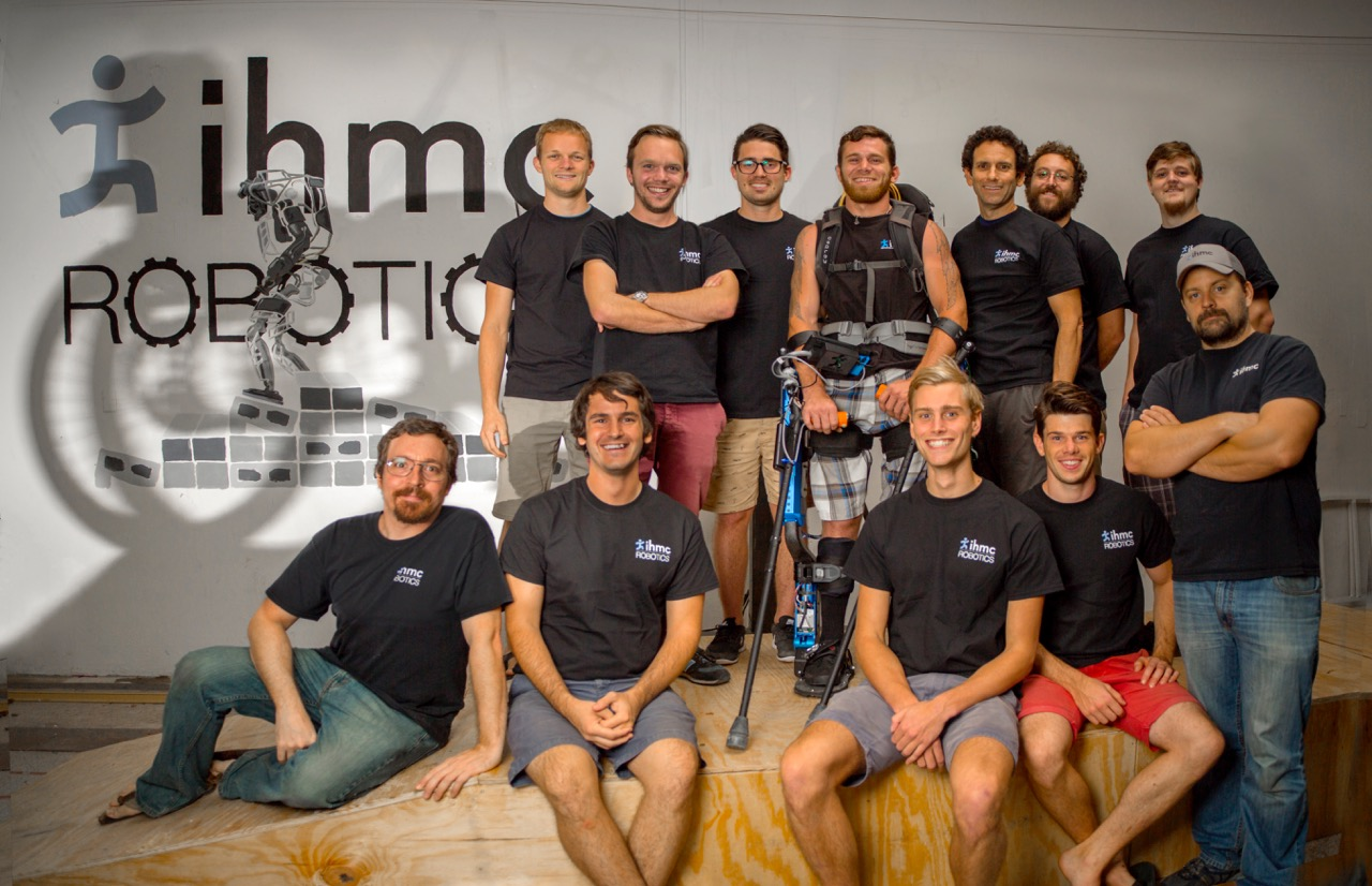 2016 IHMC Cybathlon Team  (Top row, left to right) Jesper Smith, Olger Siebinga, Tyson Cobb, Mark Daniel, Peter Neuhaus, Travis Craig, Jeremy Gines  (Bottom tow) Jason Conrad, Robert Griffin, Koen Kramer, Nick van Dijk, Billy Howell