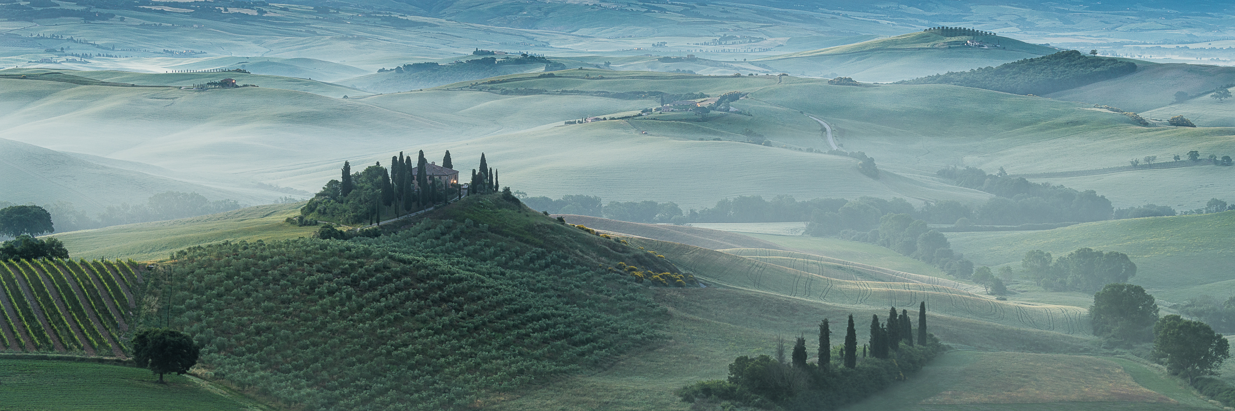 Misty Morning in the Val d'Orcia