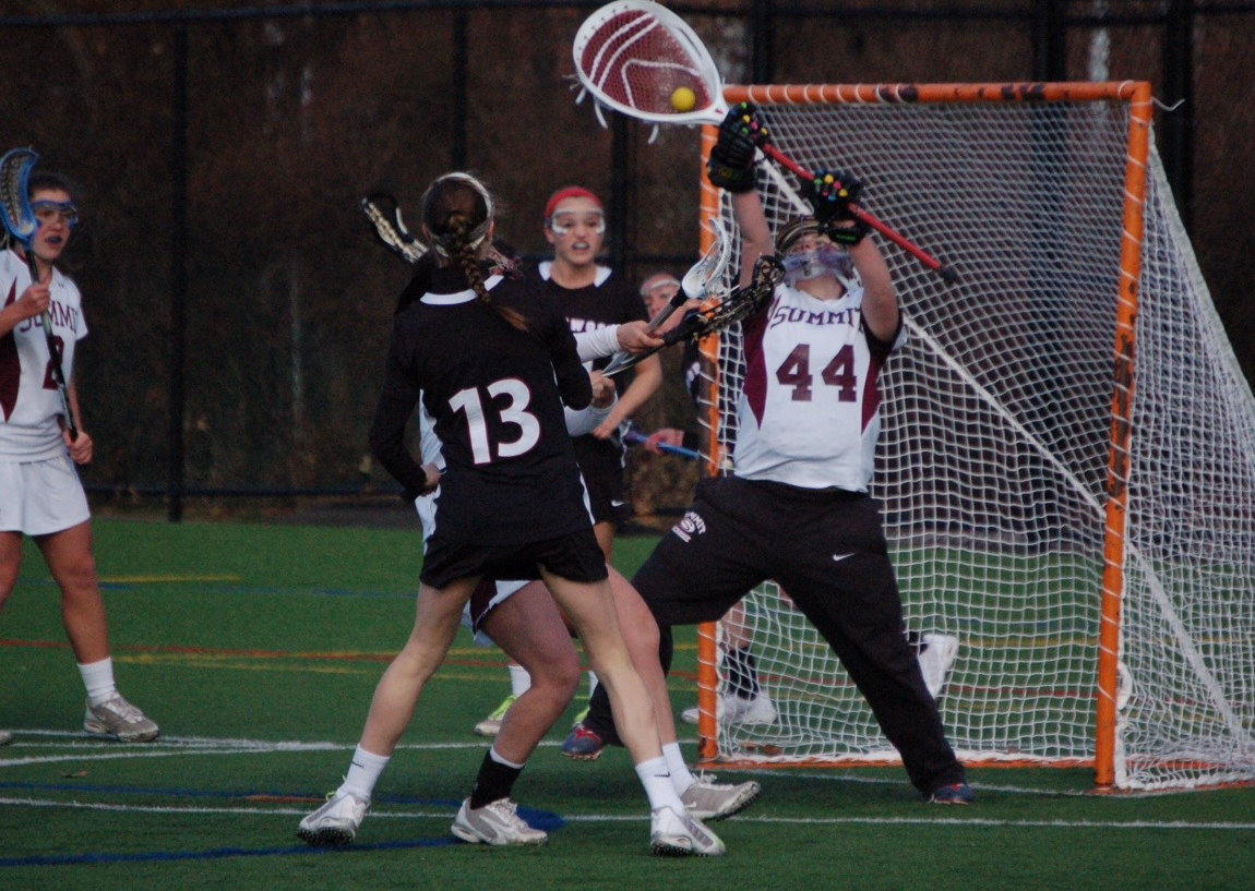 Goalie Kady Glynn will have a talented, senior-laden defense in front of her as the Summit High School Girls Varsity Lacrosse team looks to defend their County, Sectional and State championships.