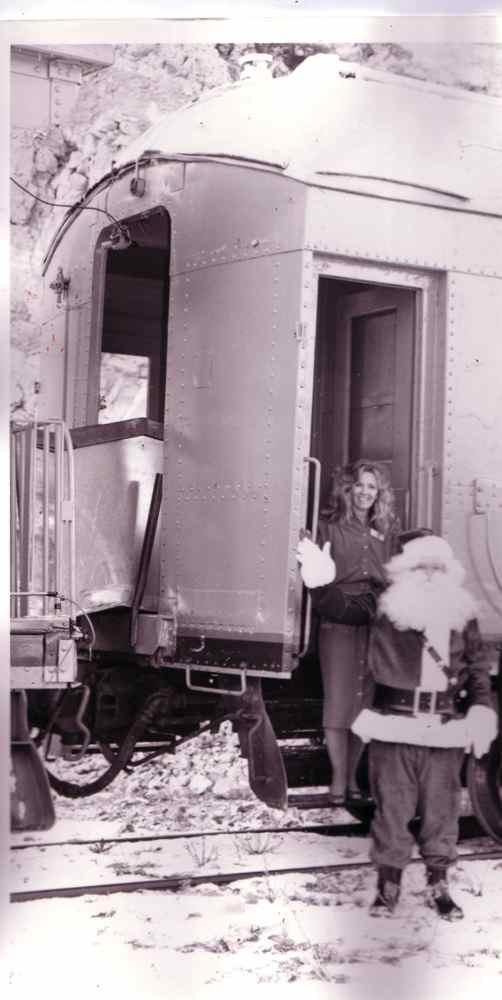 Heber Creeper Steam Train. Santa Claus Express