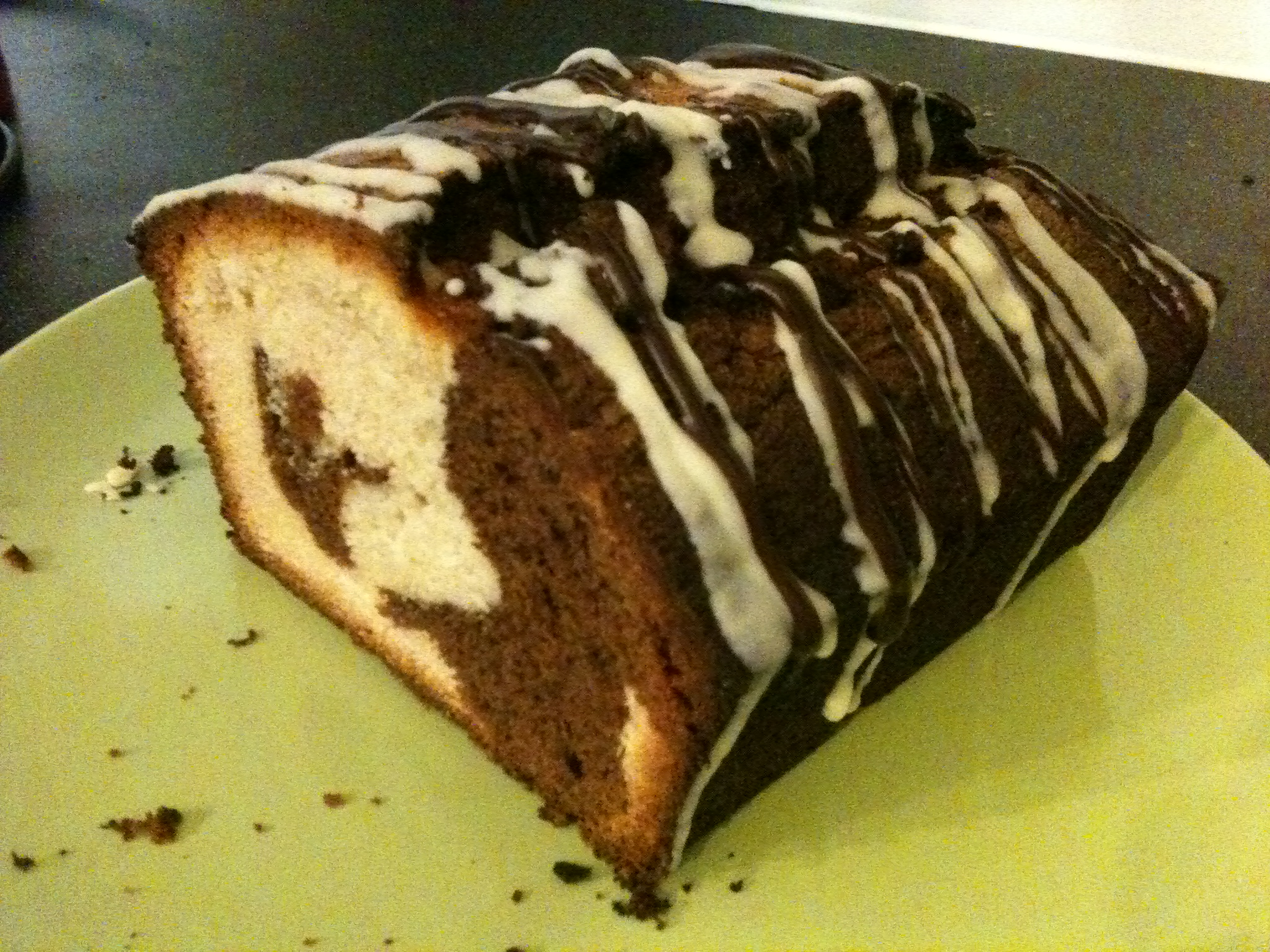 Double-chocolate marble loaf cake